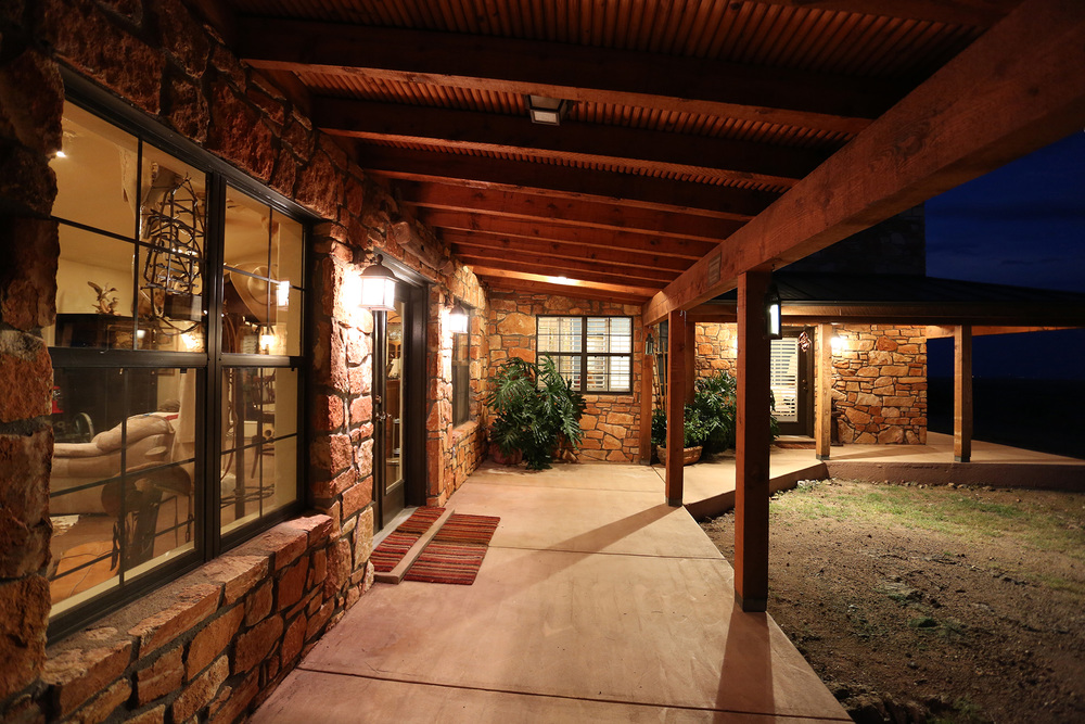 Porch off Game Room at Night