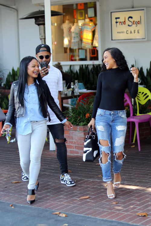 celebritiesofcolor: Christina Milian and Karrueche Tran out in Los Angeles