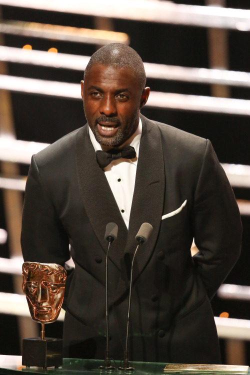 celebritiesofcolor: Idris Elba speaks onstage during the House Of Fraser British Academy Television Awards 2016 at the Royal Festival Hall on May 8, 2016 in London, England.