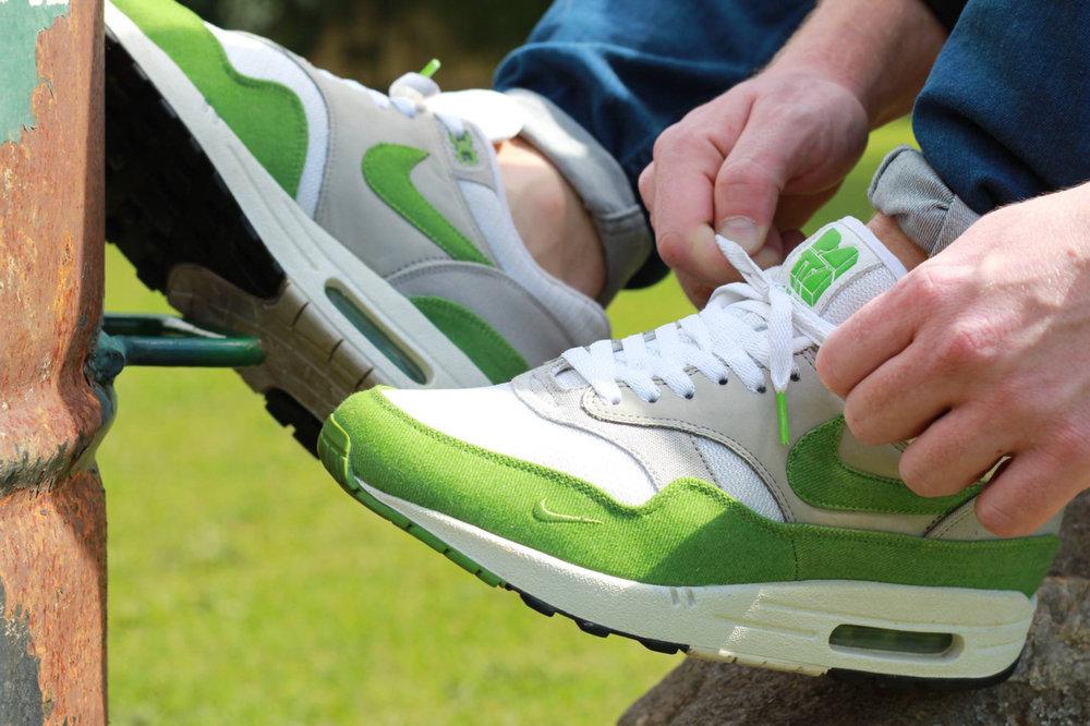 sweetsoles: Patta x Nike Air Max 1 - Spring Green (by eileman7)