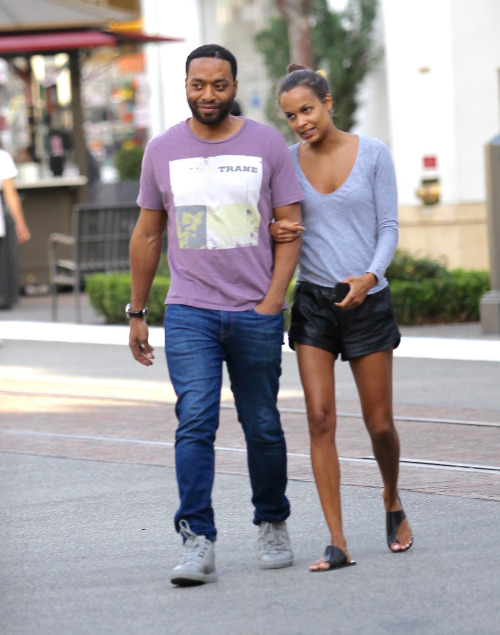 celebritiesofcolor: Chiwetel Ejiofor at The Grove in Hollywood