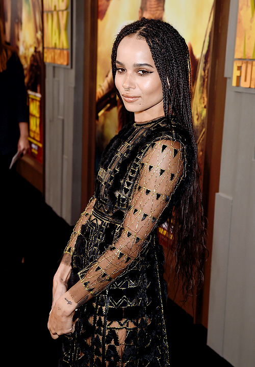 celebritiesofcolor: Zoe Kravitz attends the premiere of Warner Bros. Pictures' 'Mad Max: Fury Road' at TCL Chinese Theatre on May 7, 2015 in Hollywood, California.