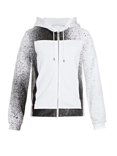 billidollarbaby: Balenciaga Spray Paint-print hooded sweatshirt