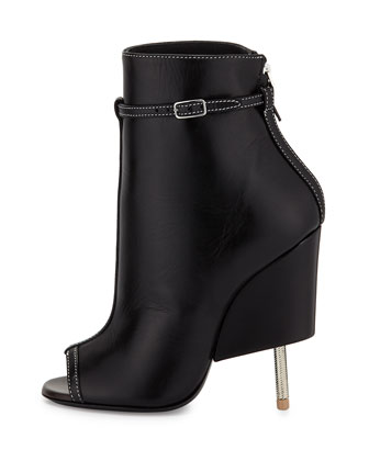 billidollarbaby: Givenchy Leather Screw Heel Bootie