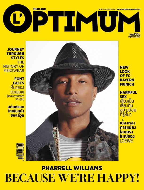 billidollarbaby: Pharrell Williams Covers L'Optimum Thailand November 2014