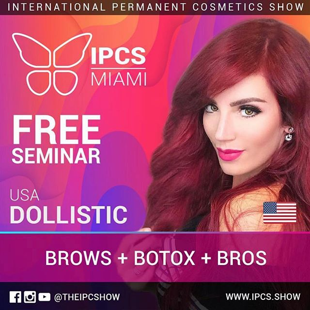 It's the Super Bowl of #permanentmakeup 🙌 Our very own @emeliaalegria is heading to the @theipcshow in Miami July 4-7 to host a seminar on #brow design, #BroBrows, and how #injectables affect #permanentmakeup. 🔮 Visit www.IPCS.show for tickets and to register 🙏🏼