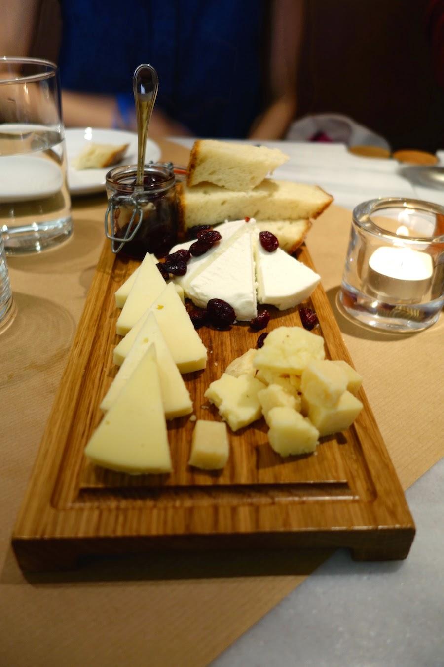 Greek cheese platter