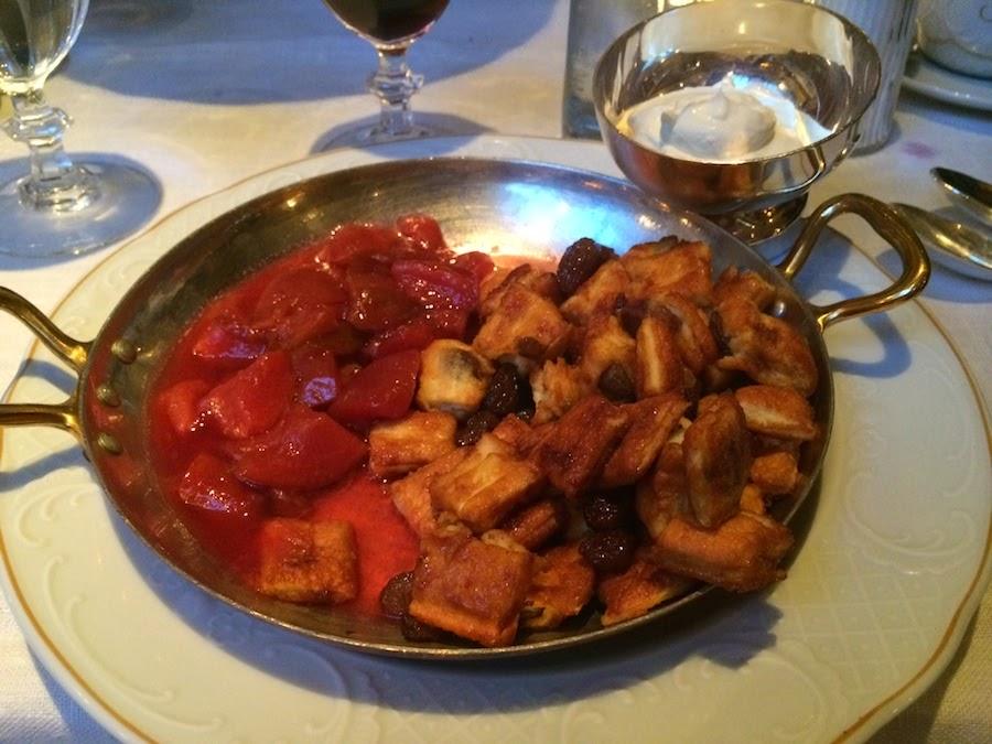 Franz Joseph Kaiserschmarrn - chopped pancake with plum compote
