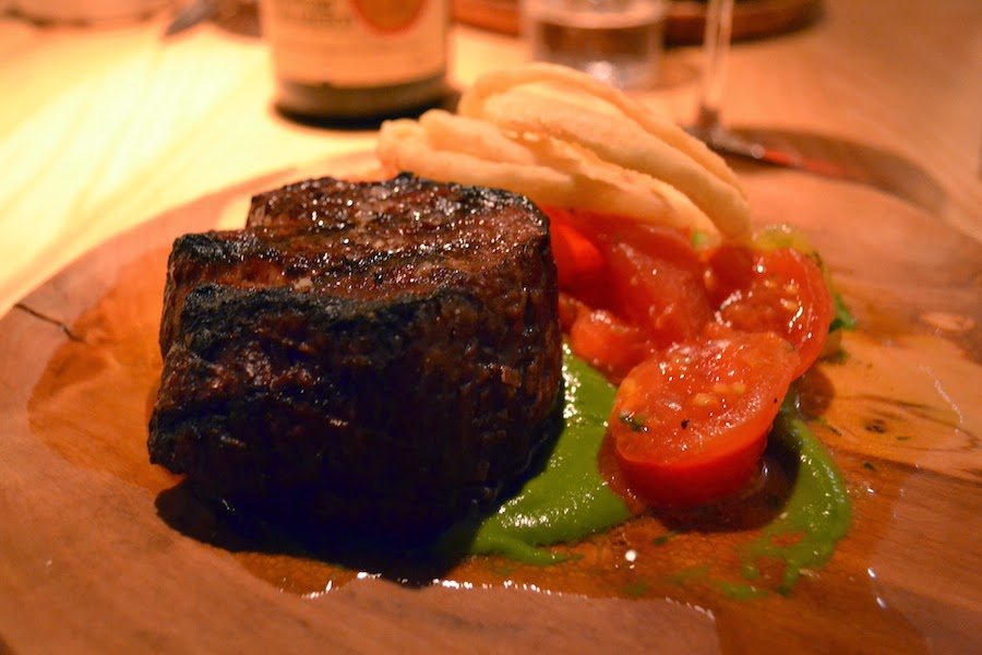Wood-aged beef fillet with Isle of Wight tomatoes & chimichurri