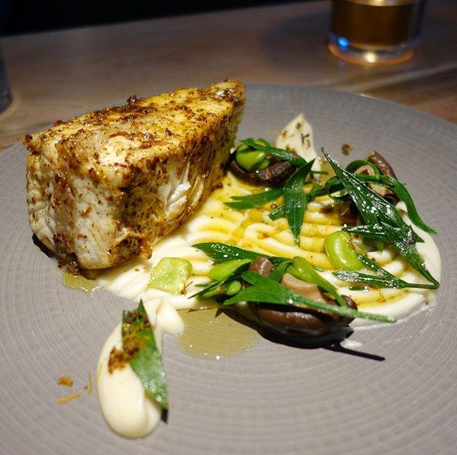 Halibut, shiitake, turnip & vadouvan @scullyrestaurant