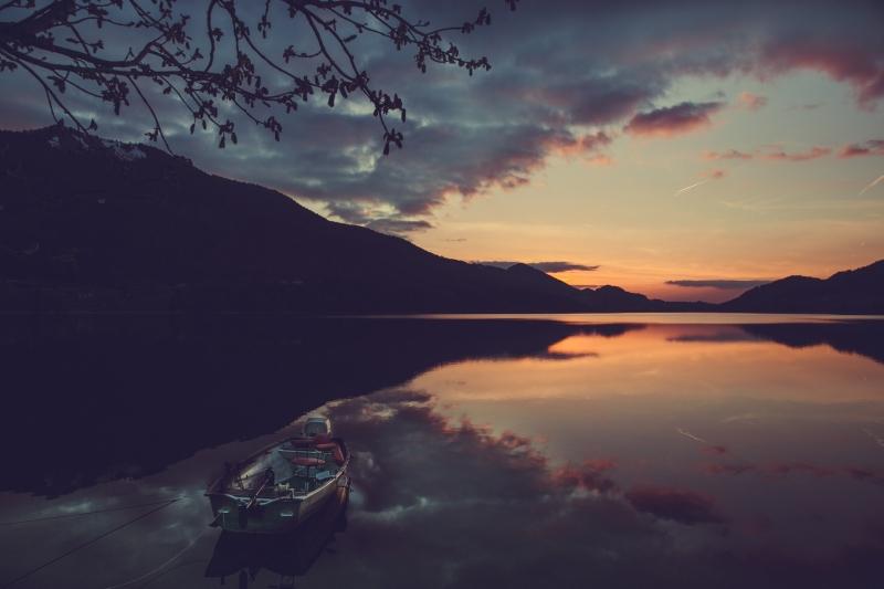Fuschl am See sunset