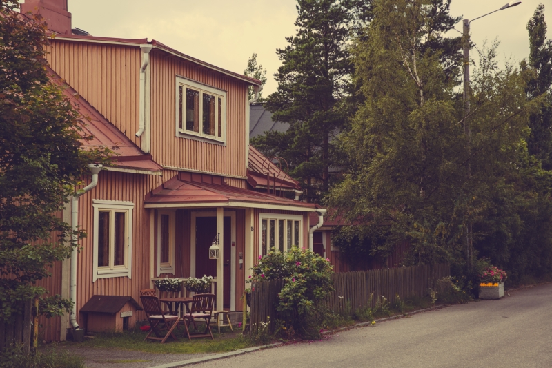 Tampere Pispala wooden houses Finland