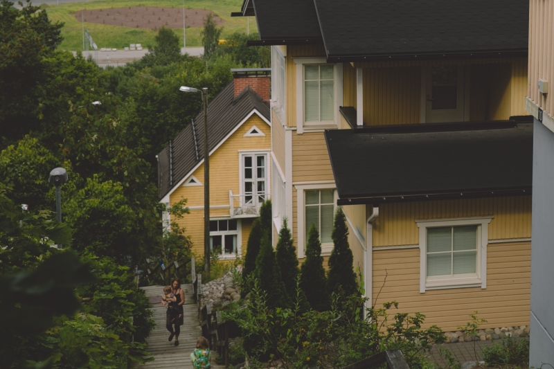 Tampere Pispala wooden houses