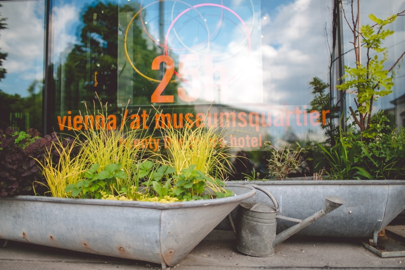25hours Hotel Vienna review MuseumsQuartier Wien Design Hotel Austria DREIMETA