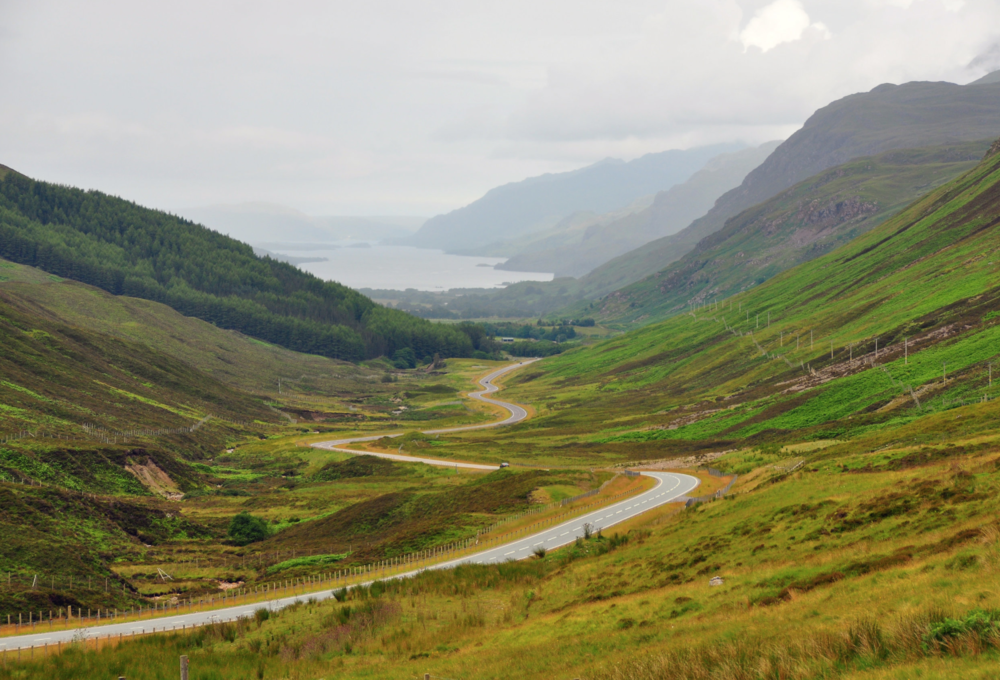 Loch Maree's winding road