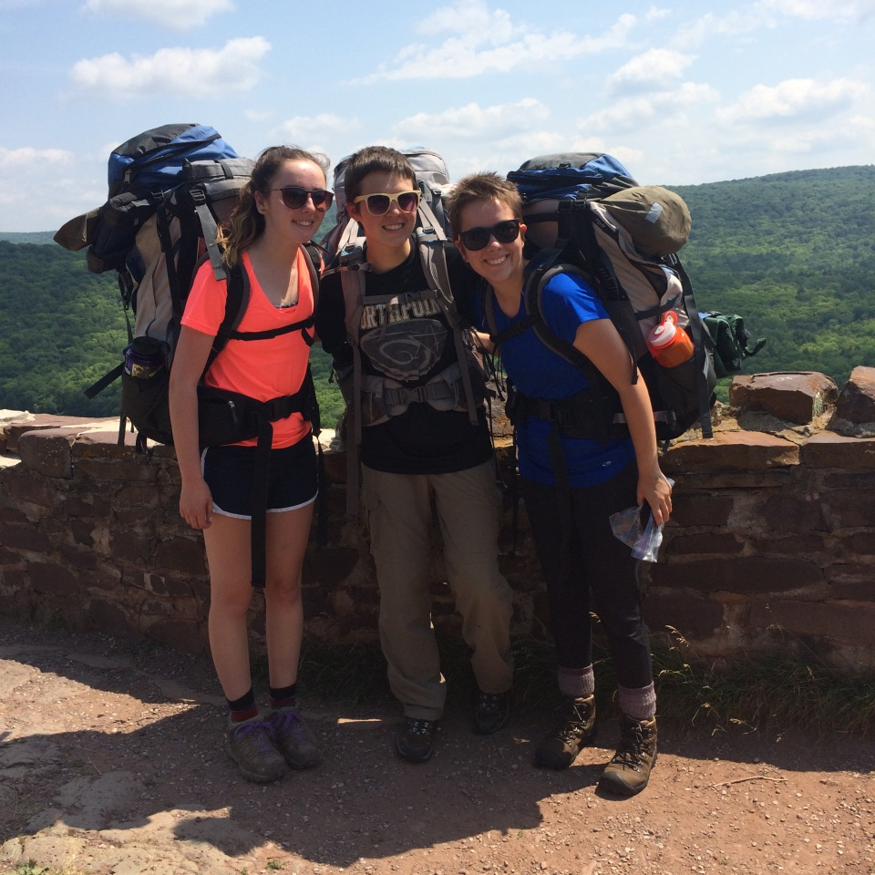 (I'm on the far left) backpacking in the Porcupine Mountains where I got Lyme Disease
