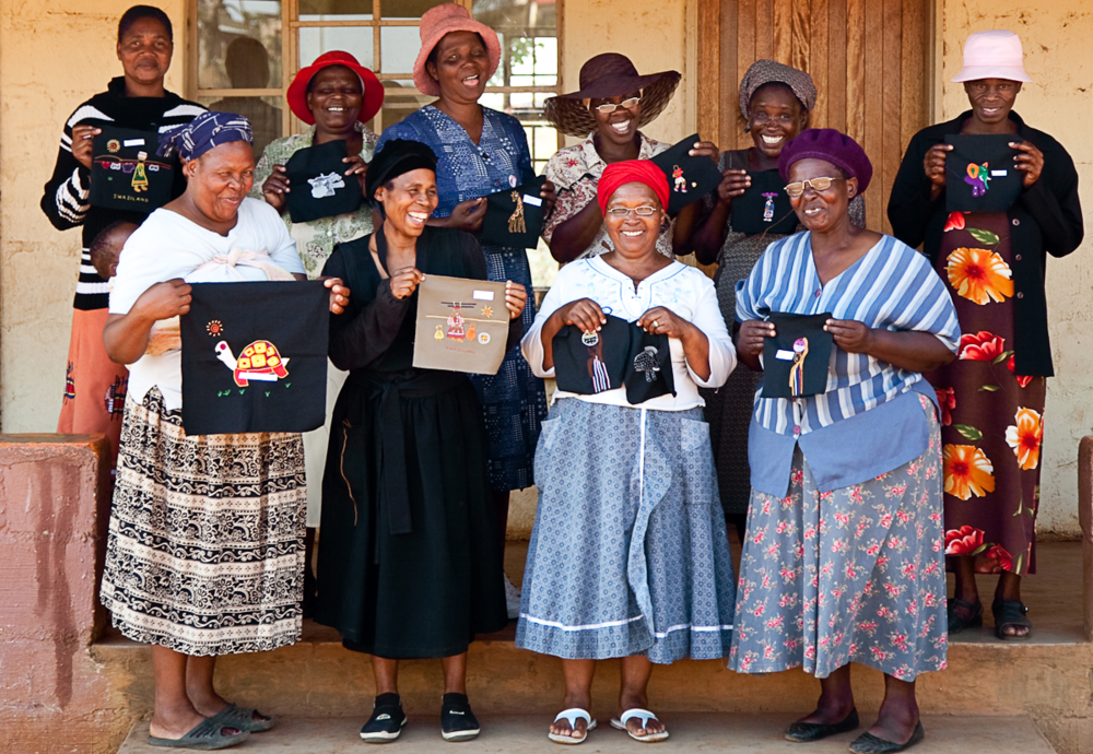 "The 150 women who are part of Litsemba in rural Swaziland form the creation and distribution of embroidered bookmarks, which are now their means of earning a regular income. This was inspired by author Gail Masondo who commissioned the women to create bookmarks for her book ""Now this feels like home"". The bookmarks are available as souvenirs and can be made to order for themed events."