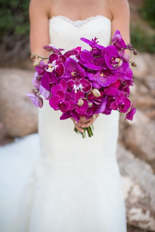 Purple Bridal Bouque