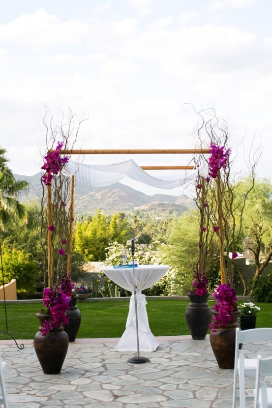 Ceremony Arch Sanctuary Az Wedding