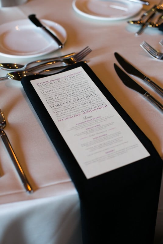 Black Napkin Detail AZ Wedding