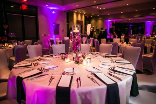 Purple Uplighting Reception