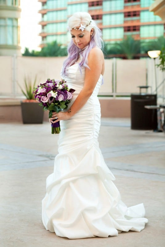 purple bride