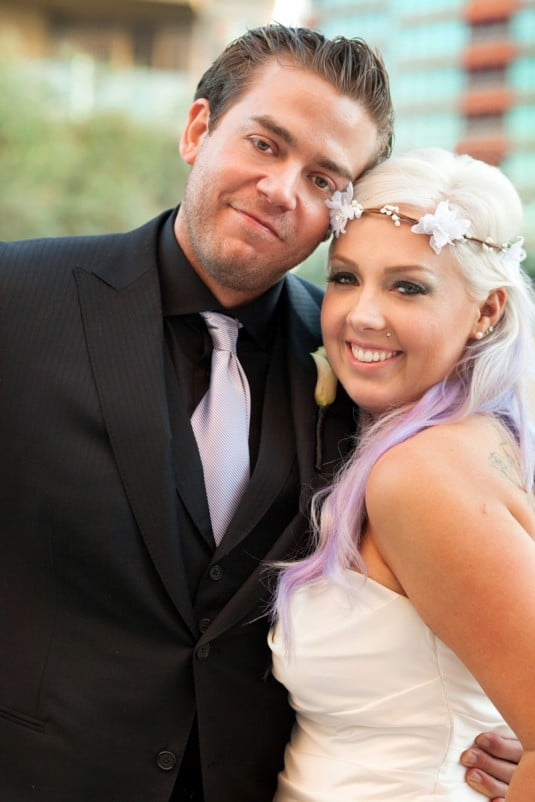 purple ritz wedding