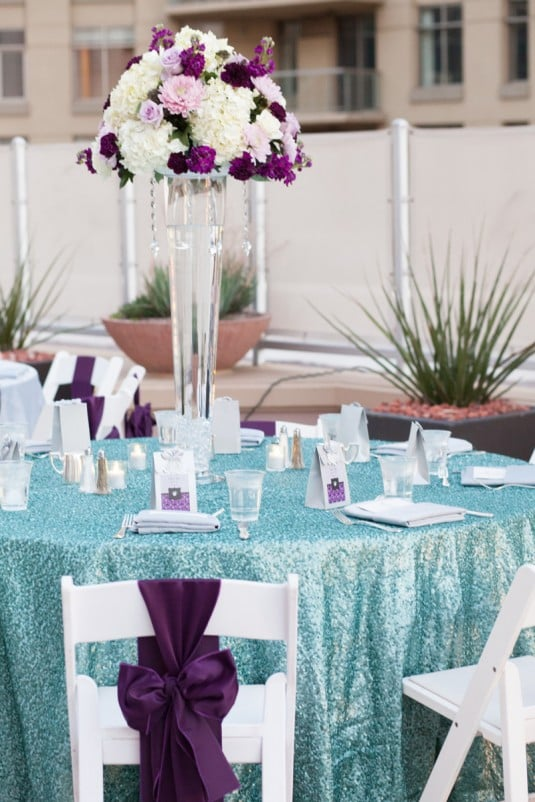 purple seafoam linens