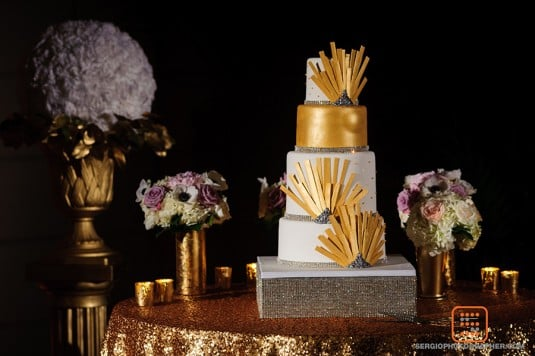 cold wedding cake art deco