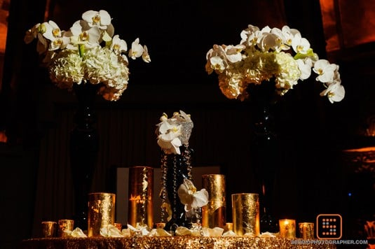 gold bling wedding arizona biltmore