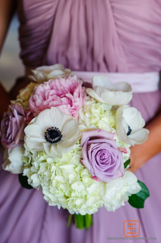 purple wedding bouquet biltmore