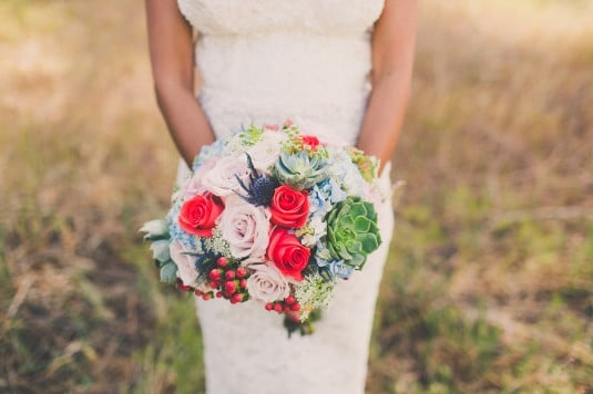 Succulent Wedding Bouquet AZ
