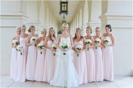 blush and white wedding