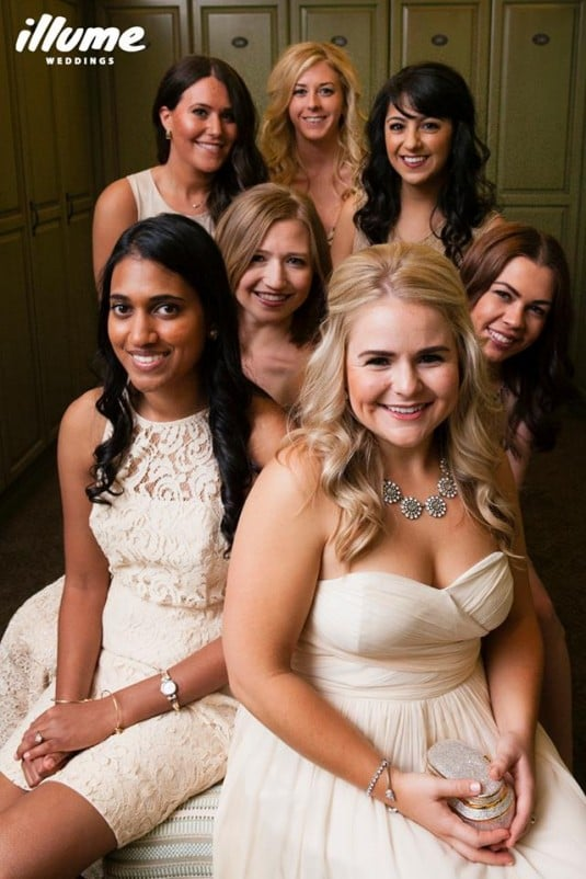PVCC bridesmaids blush