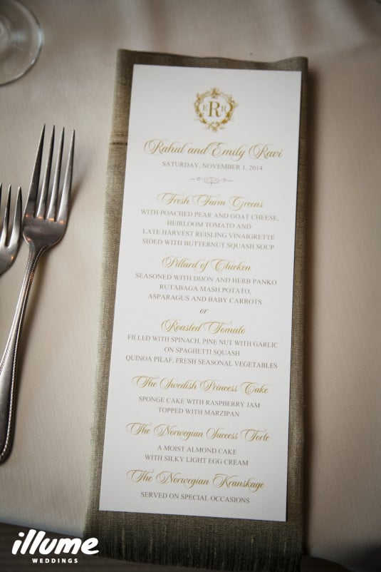 monogram napkin gold