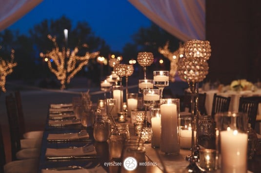arizona wedding reception lights