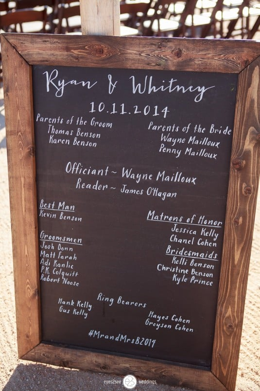 arizona wedding chalkboard
