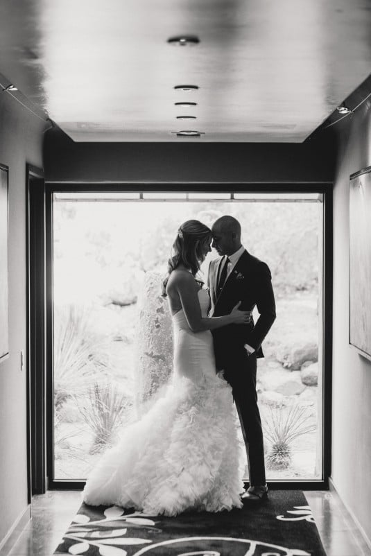 arizona bride and groom first look