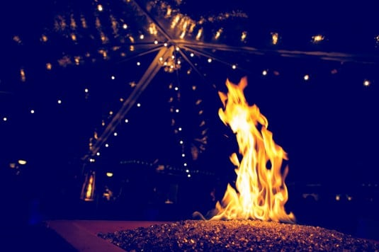 arizona wedding bonfire