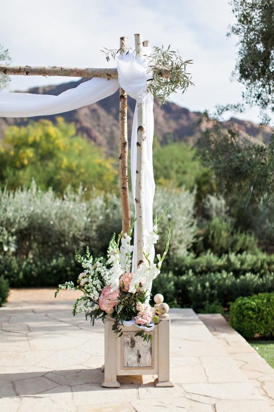 Arizona wedding alter