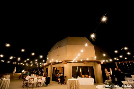 Wedding reception outside
