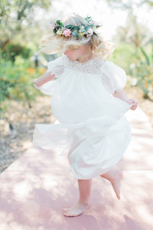 Arizona flower girl