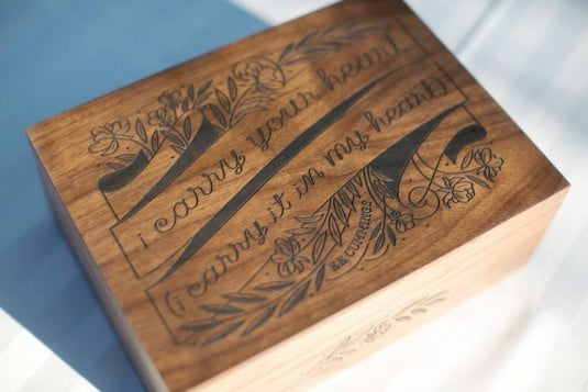 wedding wood box