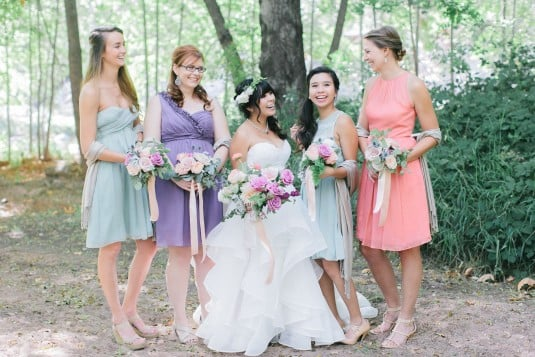 Pastel colored wedding