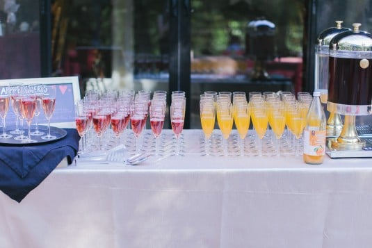 Wedding cocktail drinks