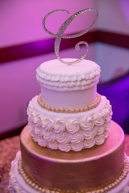 Jeweled cake topper