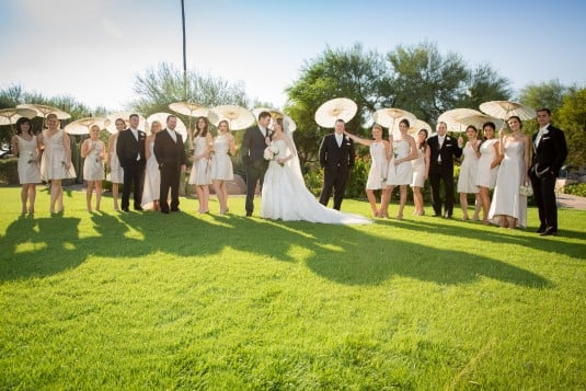 Scottsdale bridal party