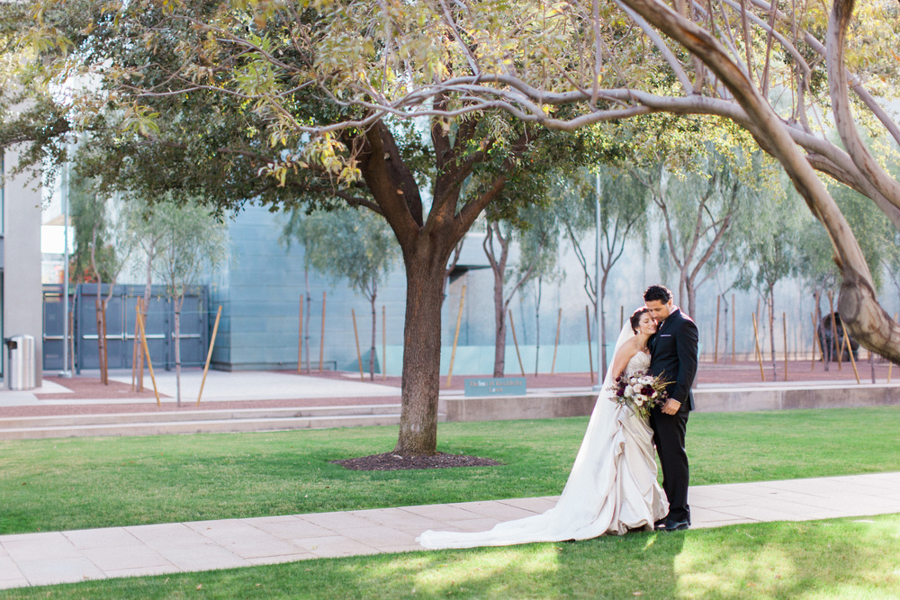 wedding, arizona wedding, scottsdale wedding planner, art museum wedding, winter wedding