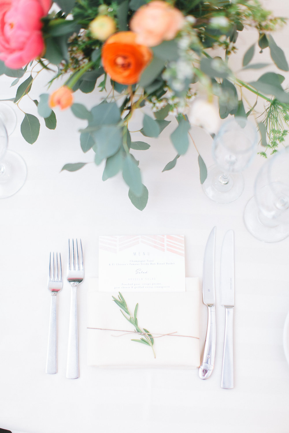 arizona wedding scottsdale el chorro pink peach coral blush planner menu reception