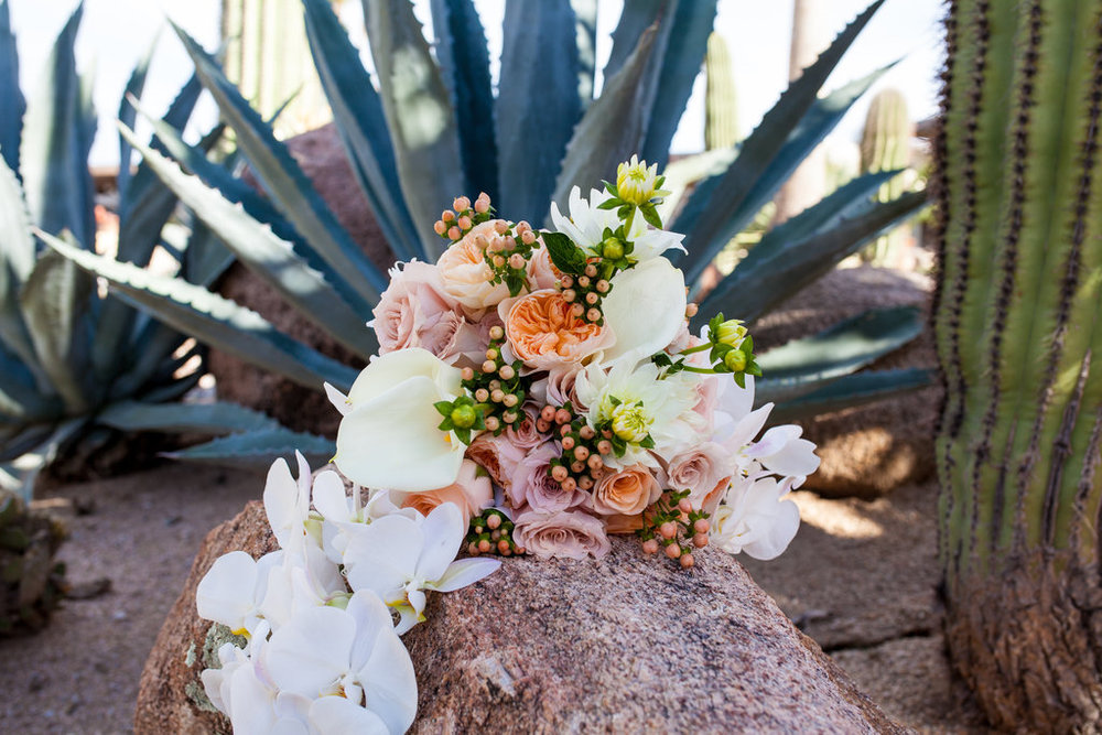 Orchids, blush, peach, southwest, elegant, flowers, roses, rustic, western, bridal bouquet, ivory, Phoenix Scottsdale Arizona Wedding Planner